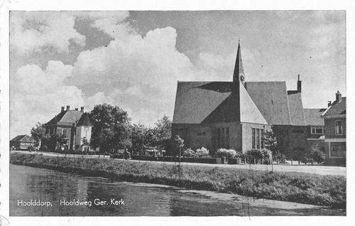 Hoofdweg O 070_ 19__ Polderhuis en Geref Kerk
