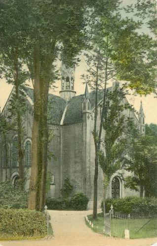 Hoofdweg O 1320 1909 NH Kerk Ingekleurd