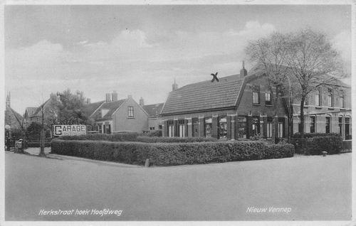 Hoofdweg O 134_ 1942 met Garage Gebr Verschoor