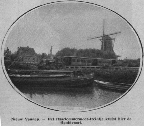 Hoofdweg O 1384 193_ Spoorbrug met molen Rijzende Zon