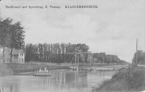 Hoofdweg O 138_ 1912 Spoorbrug en Pontje