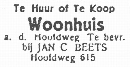 Hoofdweg W 0615 1933 Jan C Beets