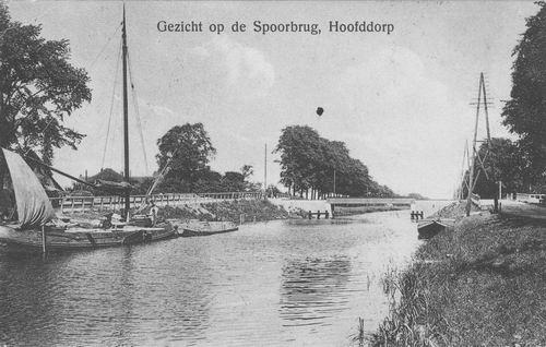 Hoofdweg W 066_ 1912 Spoorbrug