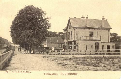 Hoofdweg W 0663a 1912 Postkantoor zonder bank