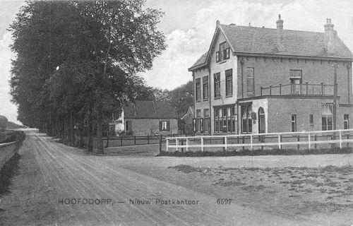 Hoofdweg W 0663a 1913 Postkantoor zonder bank