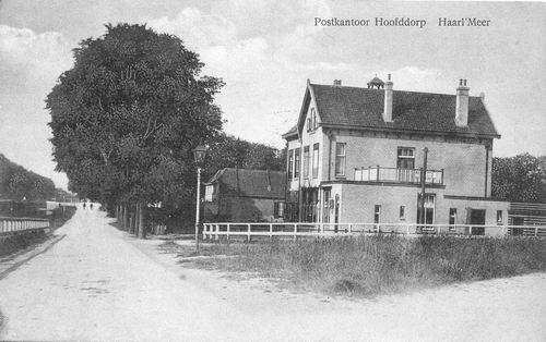 Hoofdweg W 0663a 1914 Postkantoor met 667 Weltevreden