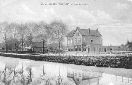 Hoofdweg W 0663a 1914 Postkantoor zonder bank