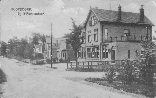 Hoofdweg W 0663a 1922 Postkantoor Bank