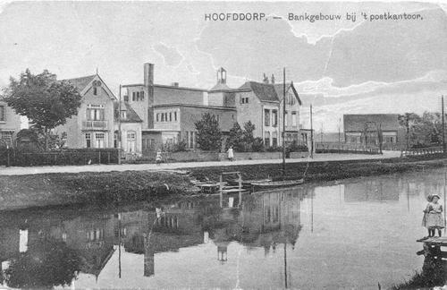 Hoofdweg W 0663a 1923 of later Postkantoor Bank etc