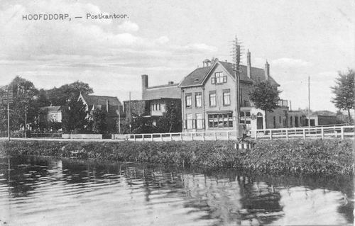 Hoofdweg W 0663a 1927 Postkantoor Bank