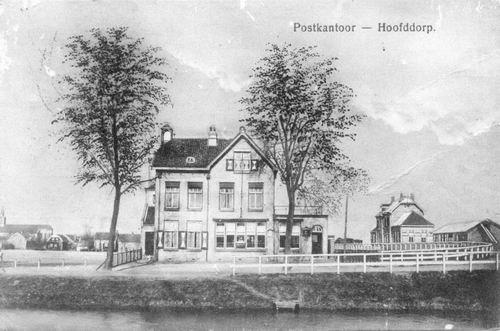 Hoofdweg W 066_ 1914 Postkantoor Station