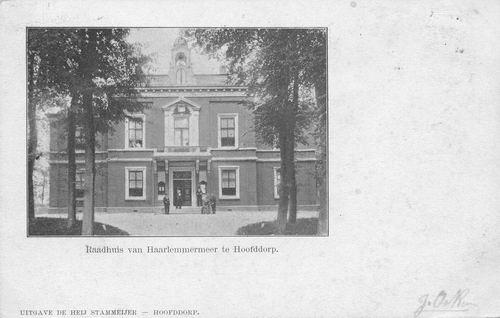 Hoofdweg W 0671 1902 Raadhuis
