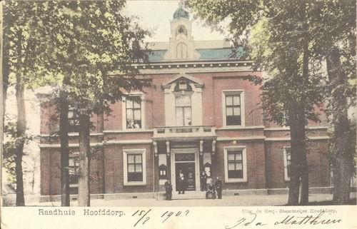 Hoofdweg W 0671 1902 Raadhuis Kleur