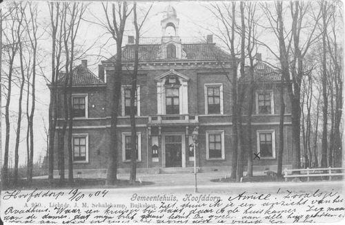 Hoofdweg W 0671 1904 Raadhuis_2