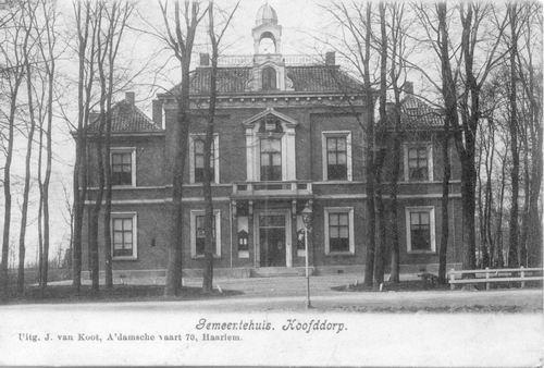 Hoofdweg W 0671 1907 Raadhuis