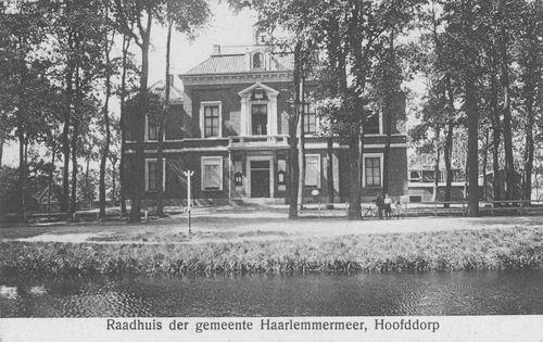 Hoofdweg W 0671 1911 Raadhuis Kantongerecht in Aanbouw