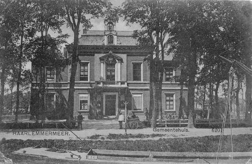 Hoofdweg W 0671 1912 of eerder Raadhuis