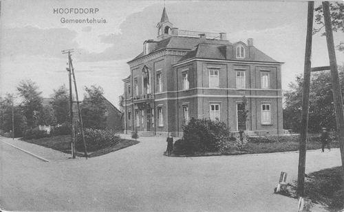 Hoofdweg W 0671 1916 Raadhuis