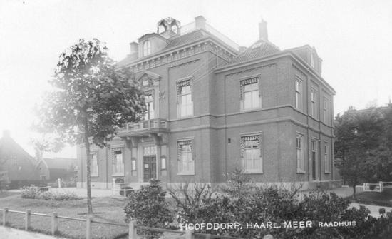 Hoofdweg W 0671 1916 Raadhuis verbouwing Torentje