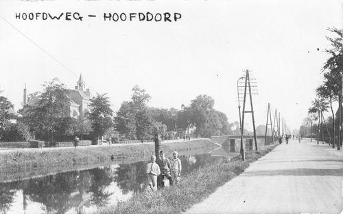 Hoofdweg W 0671 1933 van overkant Hoofdvaart