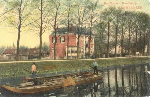 Hoofdweg W 0689 1911 Notariswoning Beschadigd ingekleurd