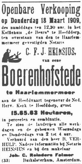 Hoofdweg W 0723 1909 Boerderij te Koop