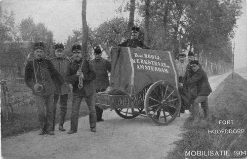 Hoofdweg W 073_ 1914 Mobilisatie 1914