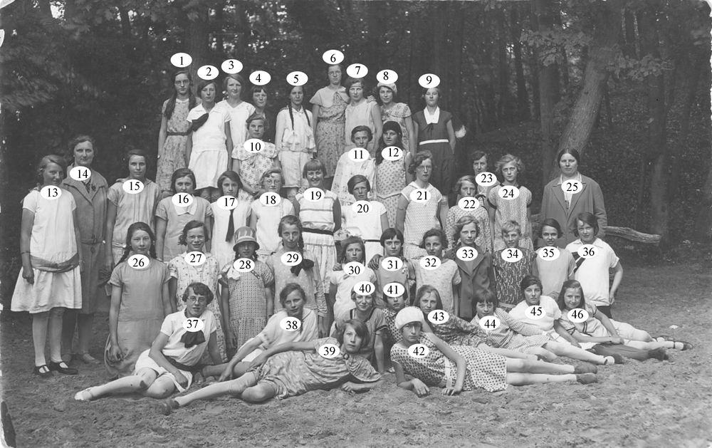 Huishoudschool Hoofddorp 1930 Schoolreisje naar Bergen_Index