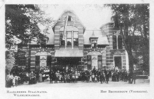 IJweg W 0501 Wilhelminabron Brongebouw in Haarlem voor 1905