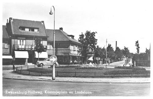 Kastanjeplein 1951 met Lindenlaan