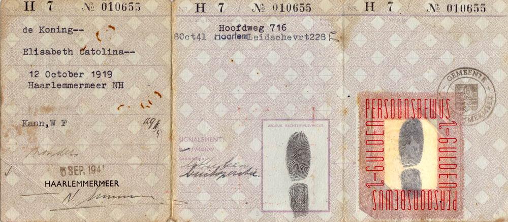 Koning Bep de 1919 1941 Persoonsbewijs 01