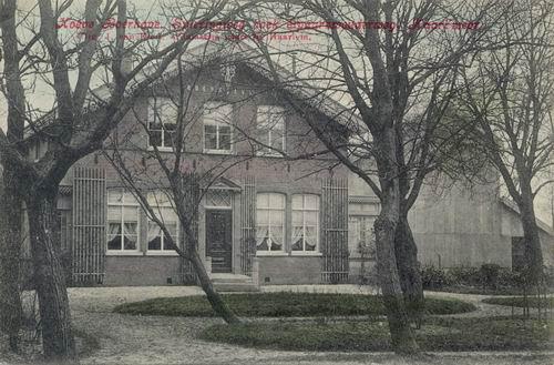 Kromme Spieringweg Hoeve Boerhave 1909 Ingekleurd.JPG