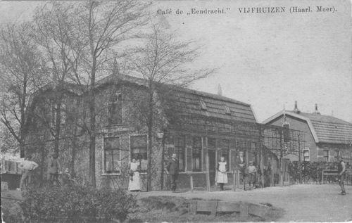 Kromme Spieringweg W 0489 1925 Cafe de Eendracht