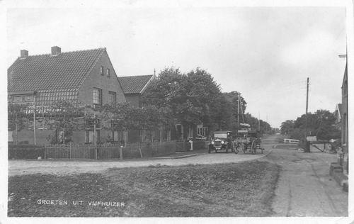 Kromme Spieringweg W 0553-549 1931 Kruising met de Klucht