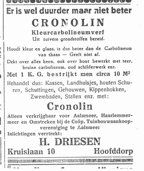 Kruislaan 0010 1937 H Driesen Vertegenwoordiger