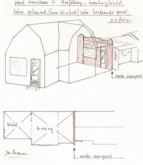 Kruislaan 0015 193_ Mesmans verbouwing tekening