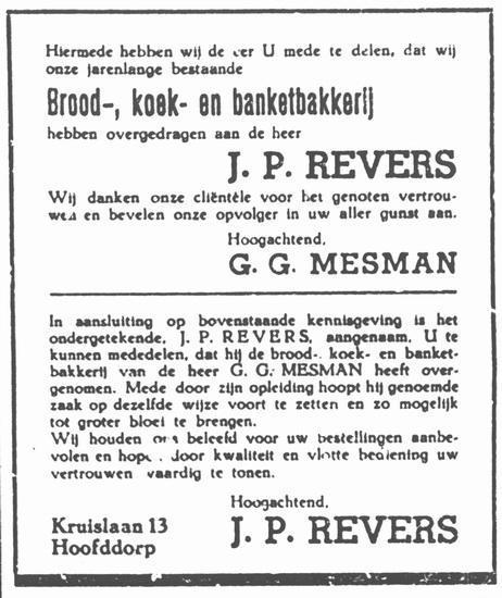 Kruislaan 0018 1952 Bakker Revers ipv Mesman