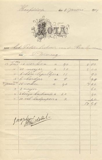 Kruislaan 0030 Wiering Piet 19140108 rekening aan polder 01