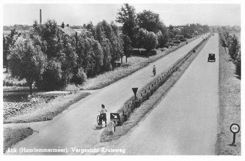 Kruisweg N 04__ 1948 Rozenburg vanaf Viaduct A4