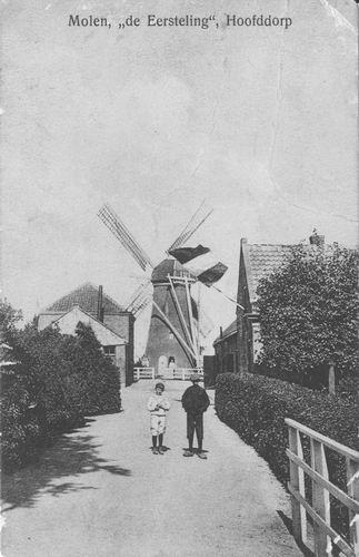 Kruisweg N 0989 1911 Eersteling beschadigt