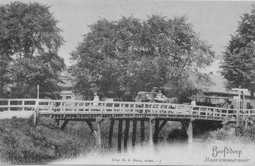 Kruisweg N 1007 1902 Beurs met houten Kruistochtbrug