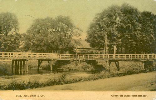 Kruisweg N 1007 1910 de Beurs met Bruggen