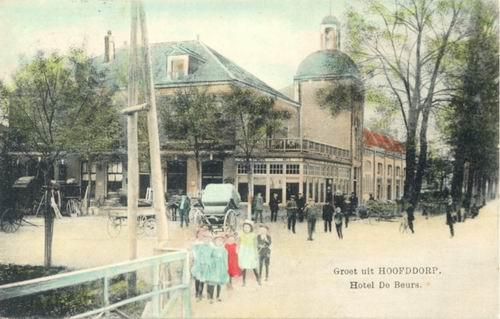 Kruisweg N 1007 1916 Beurs Toren Ingekleurd
