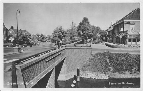 Kruisweg N 1007 1954 Zicht naar W