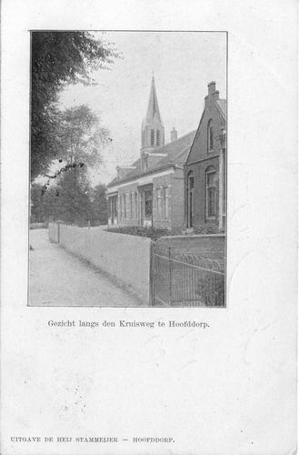 Kruisweg N 1055 1903 Postkantoor en RK Kerk