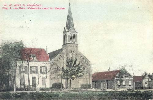 Kruisweg N 1069 1907 RK Kerk Ingekleurd