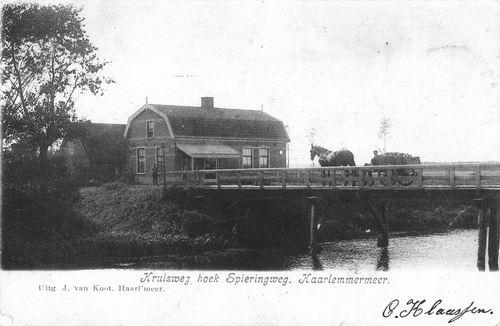 Kruisweg Z 1000 1905 cafe Ons Genoegen