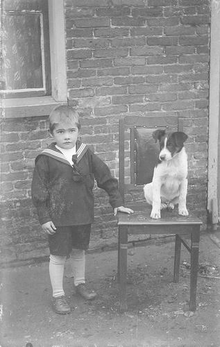 Lankhaar Antonie 1925 19__ Peuter met Hond