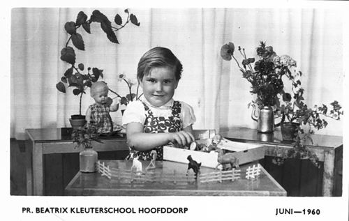 Lankhaar Lenie 1960 Schoolfoto Kleuterschool