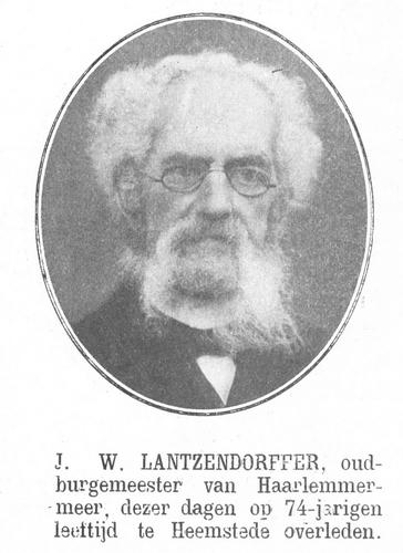 Lantzendorffer JW 1910 Overlijdensbericht